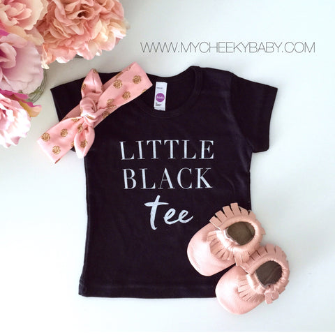 "SALE ""Little Black Tee"" Child T-Shirt - Size 6 Only"