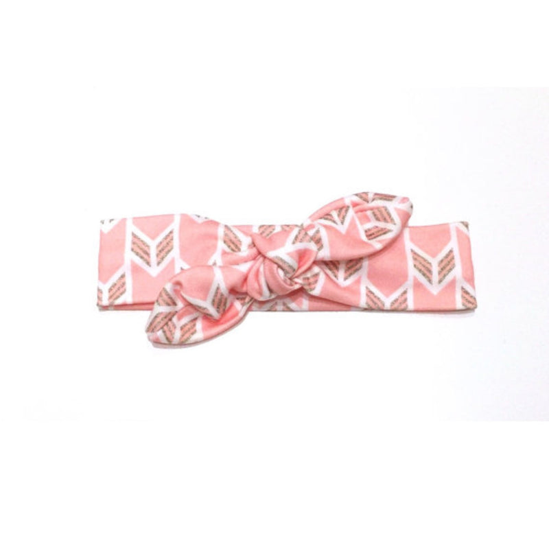 Pink Organic Cotton Knit Top Knot Headband