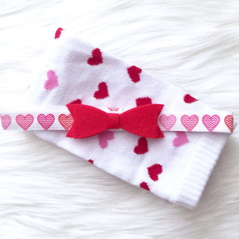 Valentine's Day Leg Warmer and Headband Set