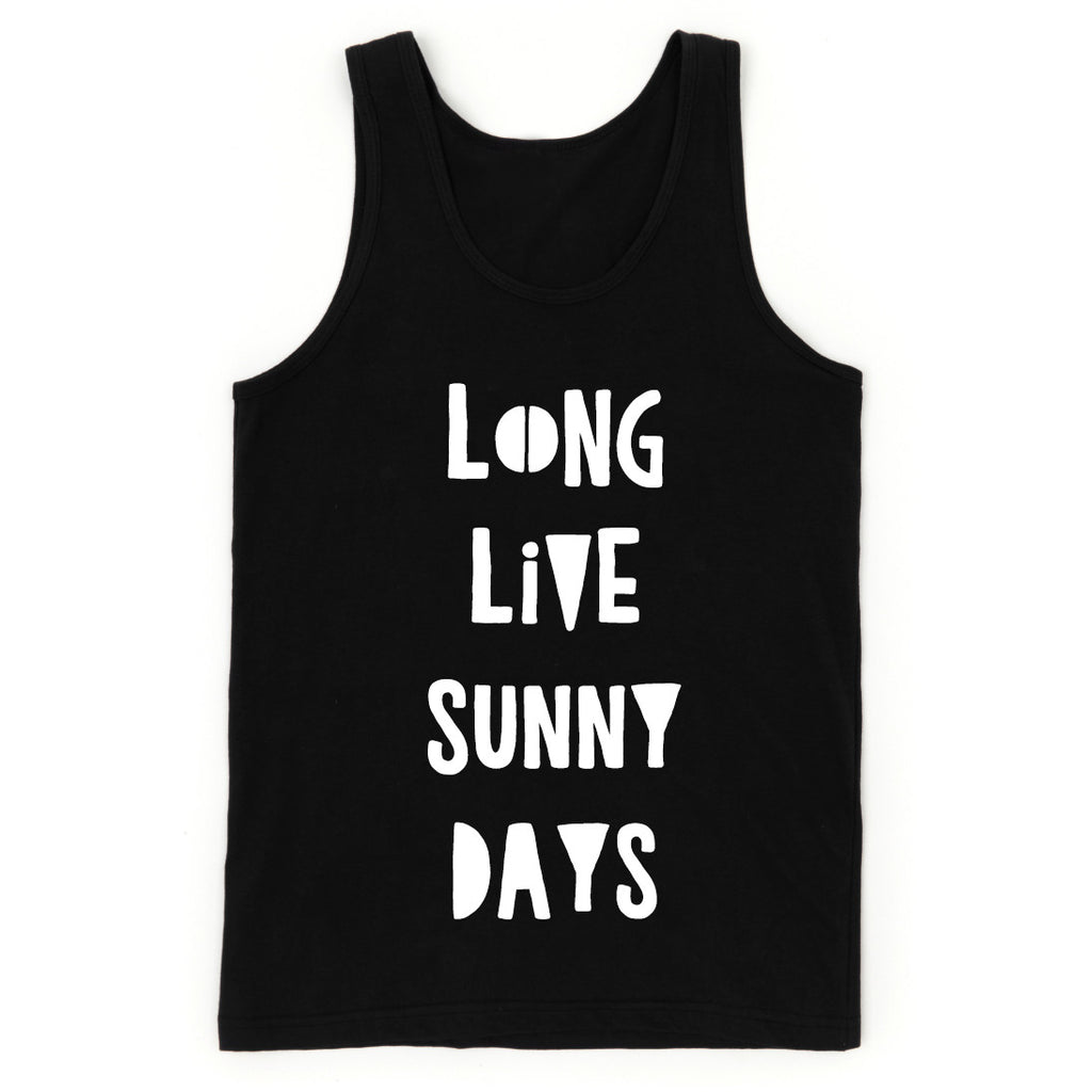 "SALE ""Long Live SunnyDays"" Black Child Tank Top - Child Size 8"