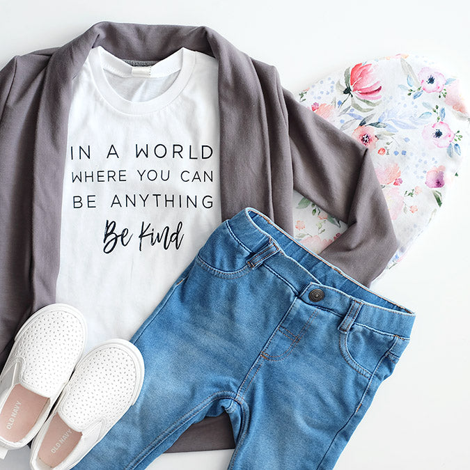 "SALE ""Be Kind"" Child T-Shirt White"