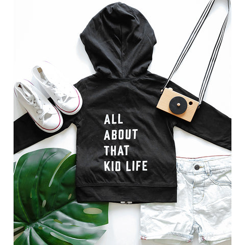 """All about that kid life"" Child Zip Hoodie Sweatshirt"