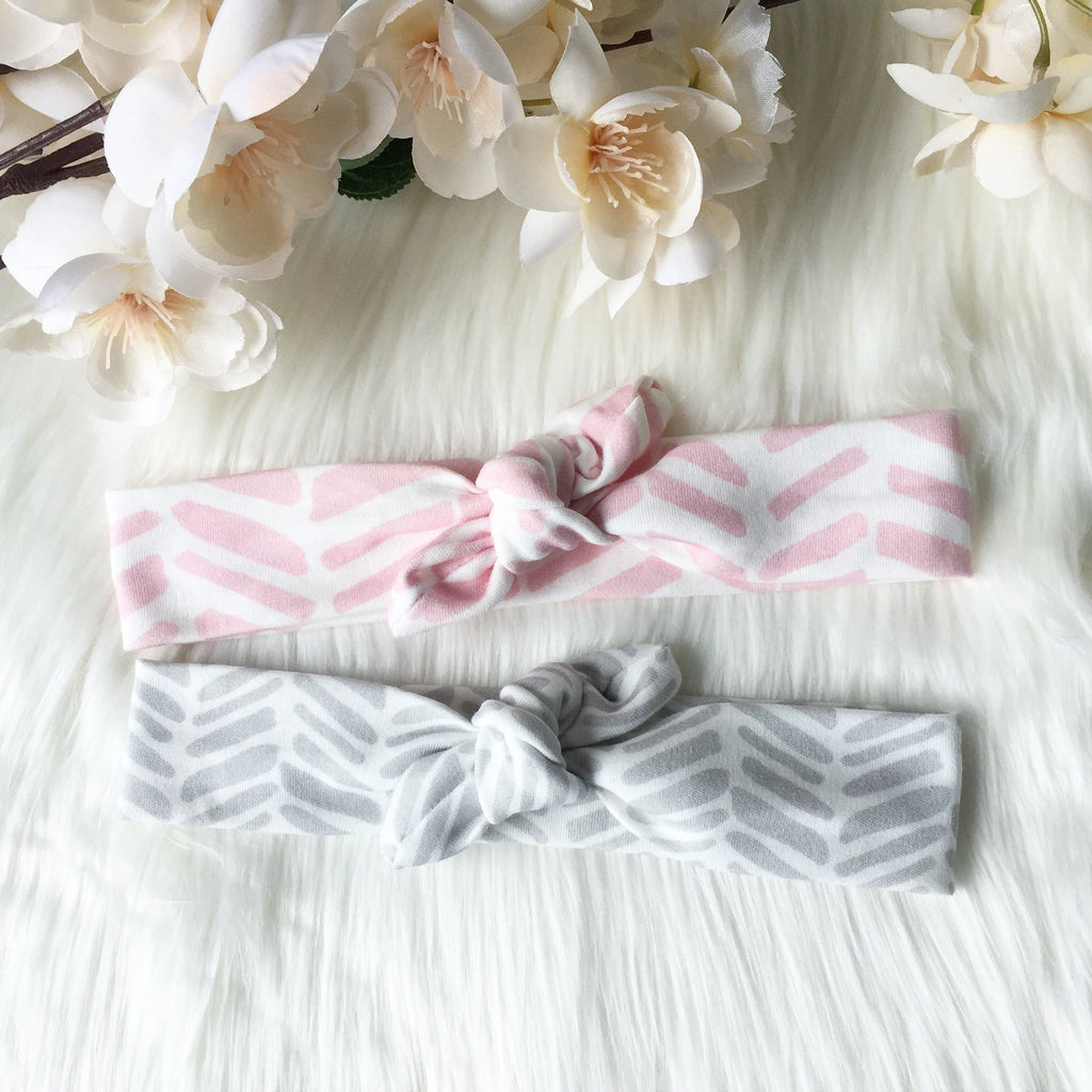 2 PC Combo - Organic Top Knot Headbands