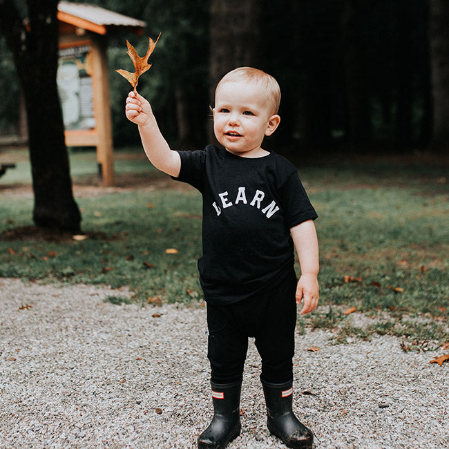 """Learn"" Black Crewneck Child T-Shirt"