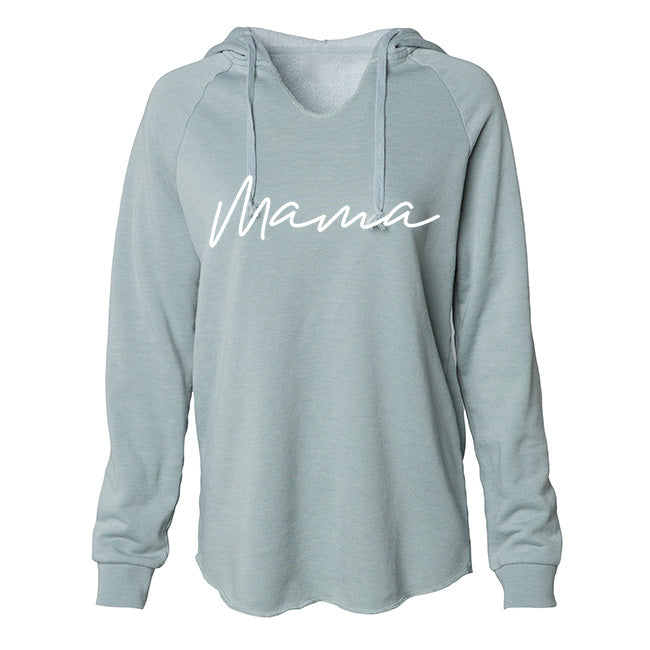 Mama - Adult Ladies Seafoam Green Hoodie Sweatshirt