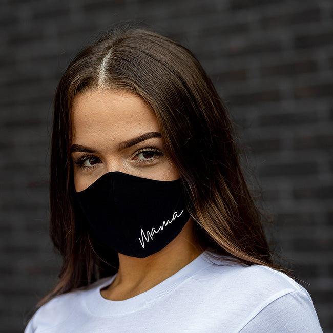 Mama - Reversible Black Cloth Face Mask
