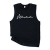 """Mama"" Adult Ladies Black Tank Top -Size XL"