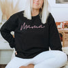 Mama Ladies Black & Pink Crewneck Sweatshirt