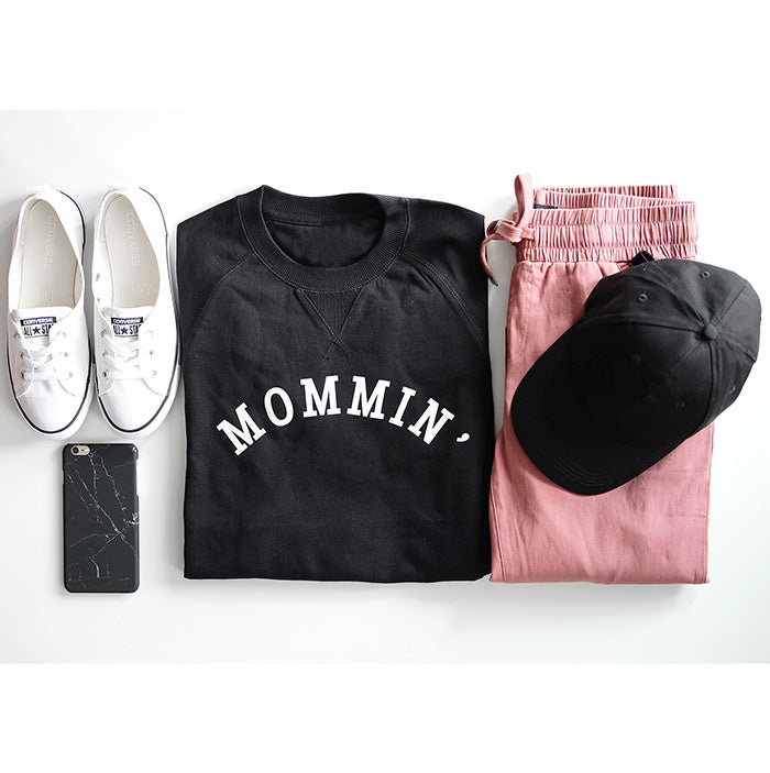 2 PC Combo -  Mommin' Ladies Sweatshirt and Jogger Pants