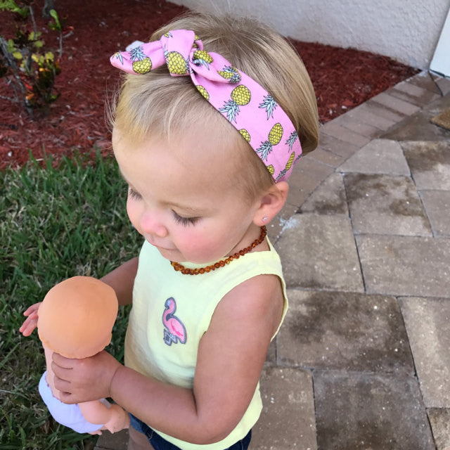 Pink Pineapple Organic Cotton Top Knot Headband