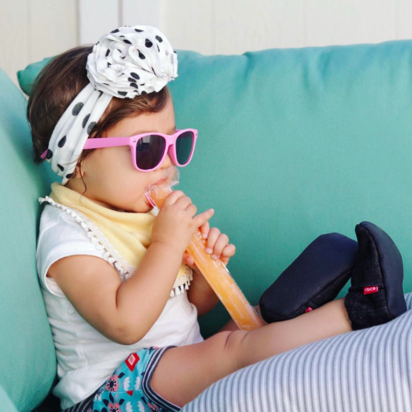 Pink Wayfarer Child Sunglasses