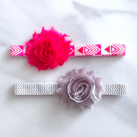 SALE 2 PC Combo - Trendy Shabby Flower Headbands