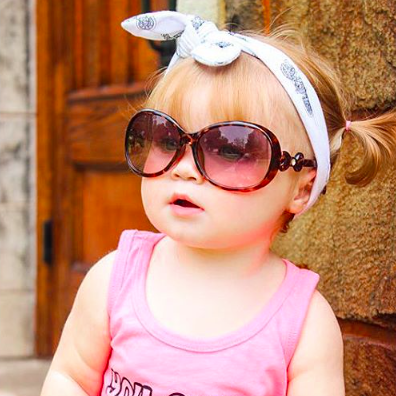 Leopard Child Sunglasses with Bow Handles