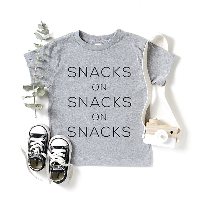 """Snacks on Snacks on Snacks"" Light Heather Grey Child T-Shirt"