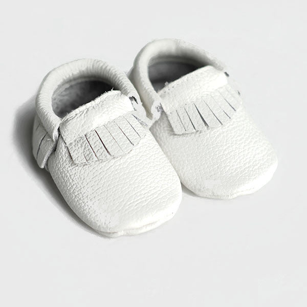 SALE Baby/Toddler Moccasin Shoes - White