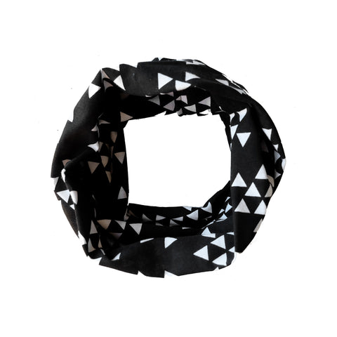 Black with White Triangle Child Scarf
