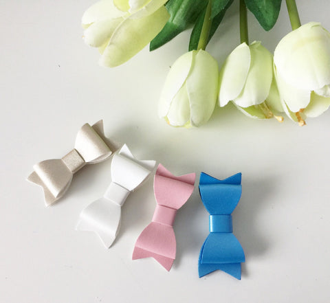 SALE 4 PC Leather Bow Clip Combo