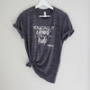 """You call it chaos I call it kids"" Dark Grey Marble Adult Ladies T-Shirt - Size 2XL"