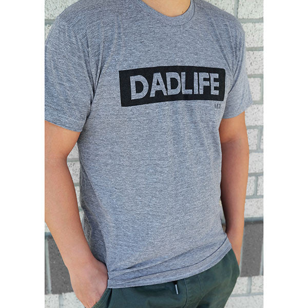 """Dad Life"" Light Grey Mens Tee"