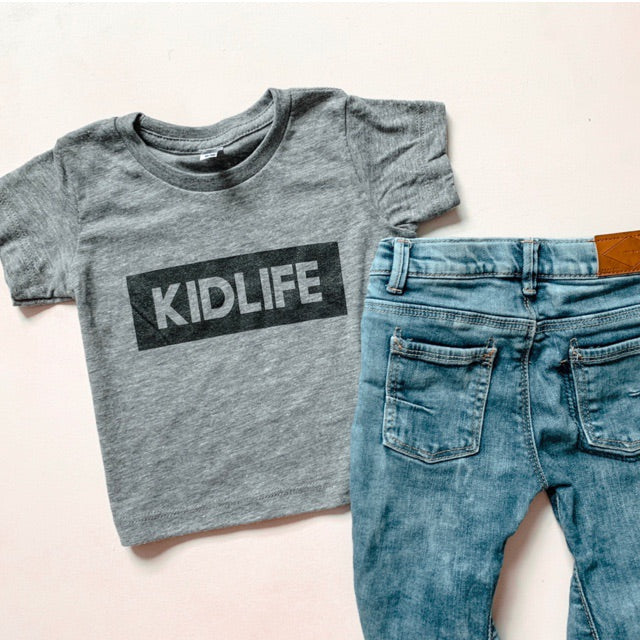 """KIDLIFE"" Triblend Grey Child T-Shirt"