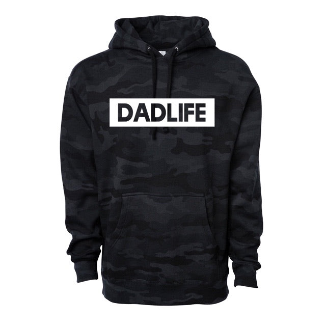 """Dad Life"" Black Camoflage Mens Hoodie Sweatshirt - Size Medium"