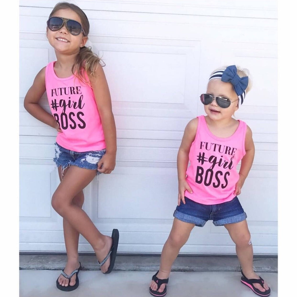"SALE ""Future #Girl Boss"" Pink Child Tank Top - 6T Only"