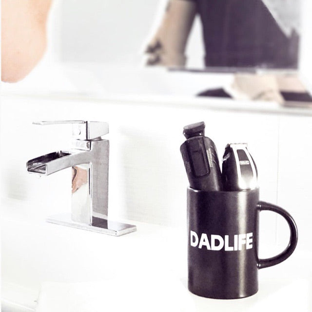 """DADLIFE"" 16 oz. Black Ceramic Mug"