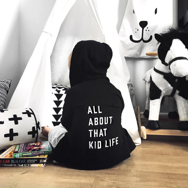 "SALE ""All about that kid life"" Child Zip Hoodie Sweatshirt"