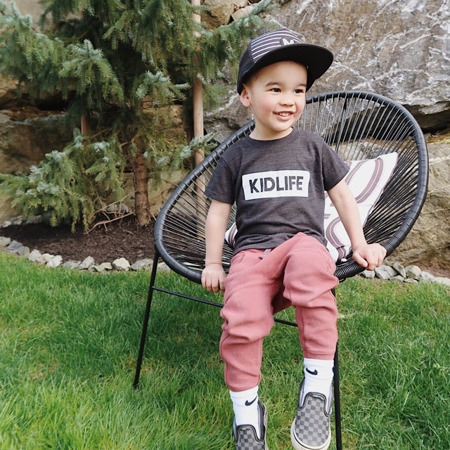 """KIDLIFE"" Triblend Charcoal Child T-Shirt"