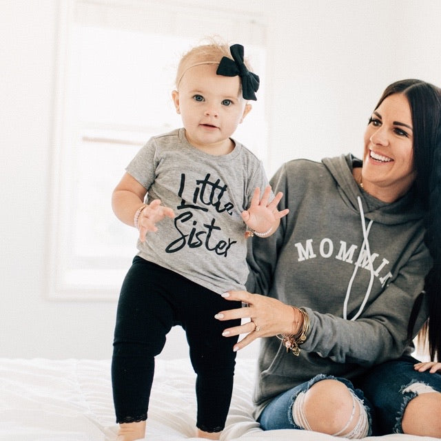 """Little Sister"" Grey Child T-Shirt"