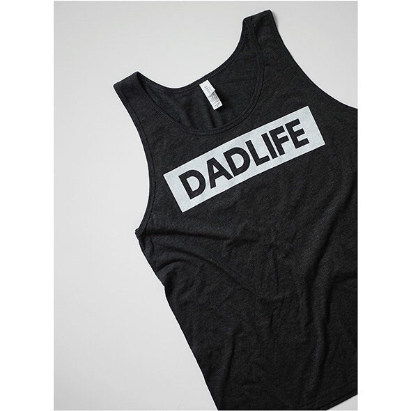 """Dad Life"" Triblend Charcoal Mens Tank"