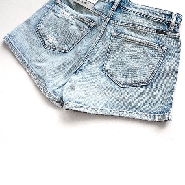"""Kaila"" - Adult Denim Ripped Jean Shorts - Size Small 3/25"