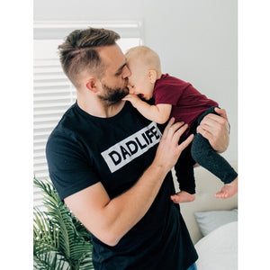 """Dad Life"" Mens Tee - 3 Options: Triblend Dark Charcoal, Light Grey or Solid Black"