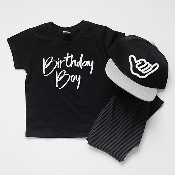 """Birthday Boy"" Black Child T-Shirt"
