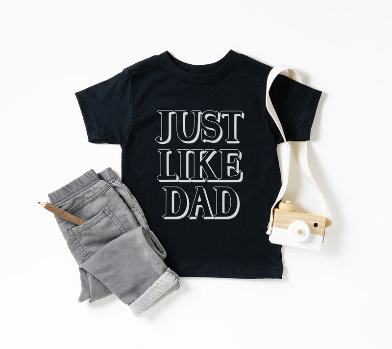 """Just Like Dad"" Black Child T-Shirt"
