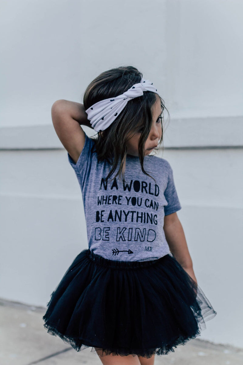 """Be Kind"" Child T-Shirt Light Grey"