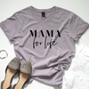 """Mama for Life"" Ladies Mauve Mineral Wash Crewneck T-Shirt"