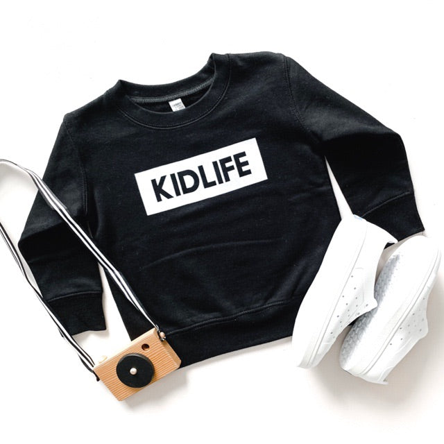 """KIDLIFE"" Block Design Child Sweatshirt Black"