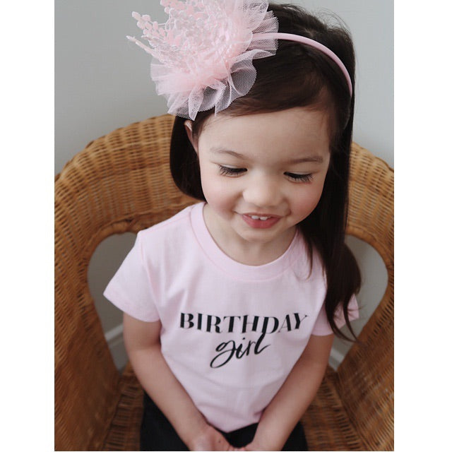 """Birthday Girl"" Pink Child T-Shirt - Size 12 Months"