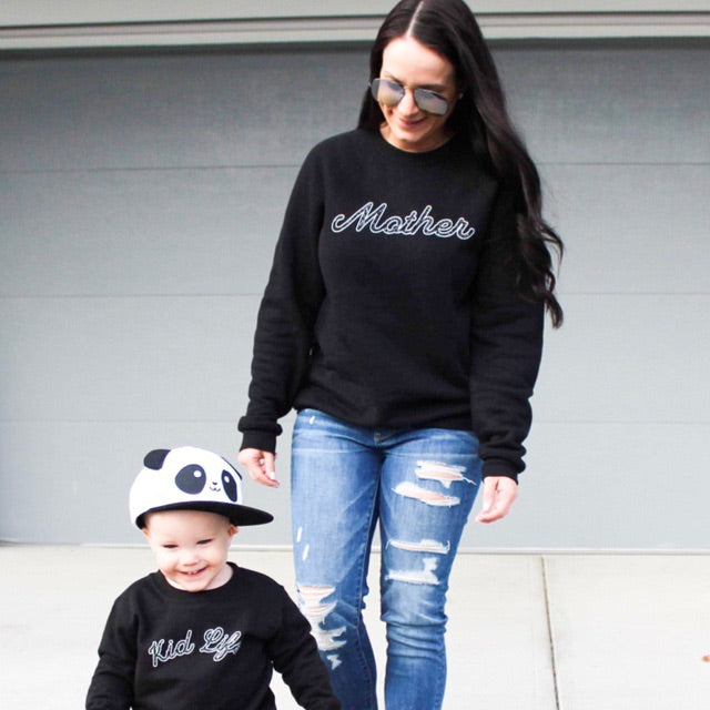 Mother - Ladies Black Crewneck Sweatshirt