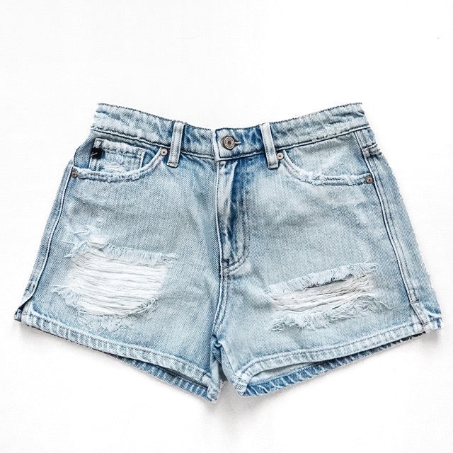 """Kaila"" - Adult Denim Ripped Jean Shorts"