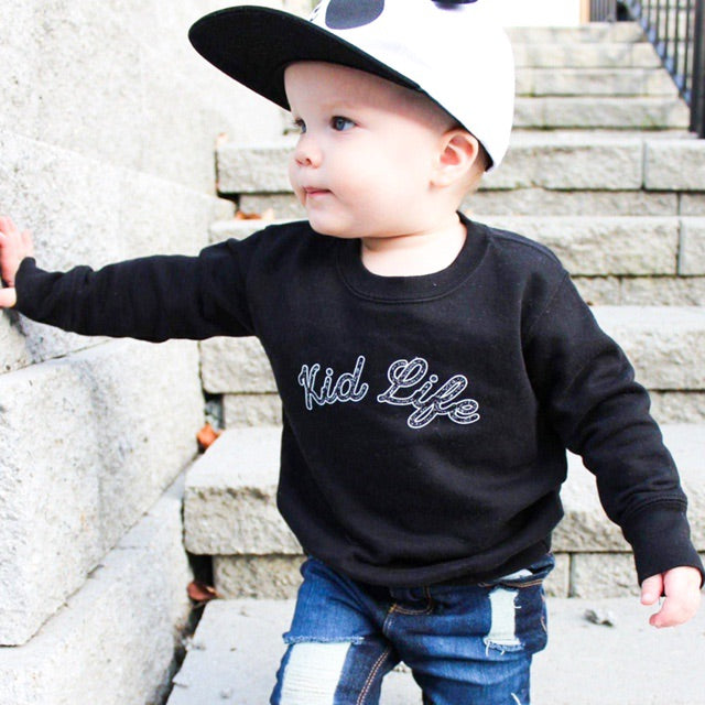 """Kid Life"" Child Sweatshirt Black"