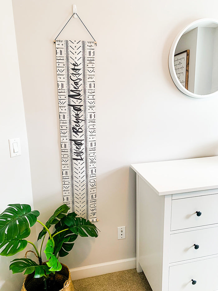 Mud Cloth Growth Chart - Loved Beyond Measure