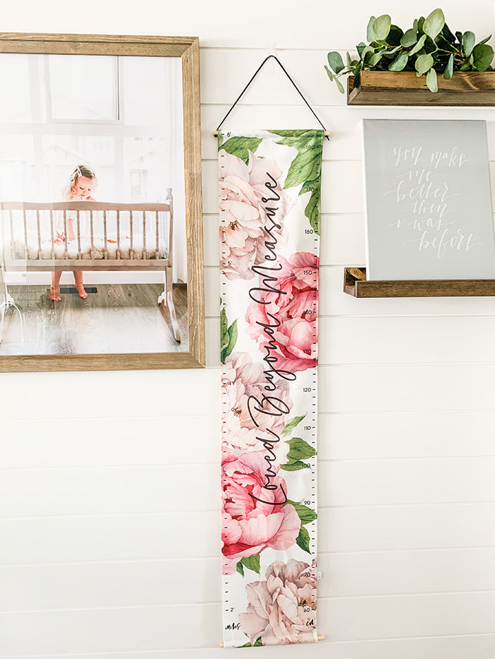 Peonies Growth Chart - Loved Beyond Measure