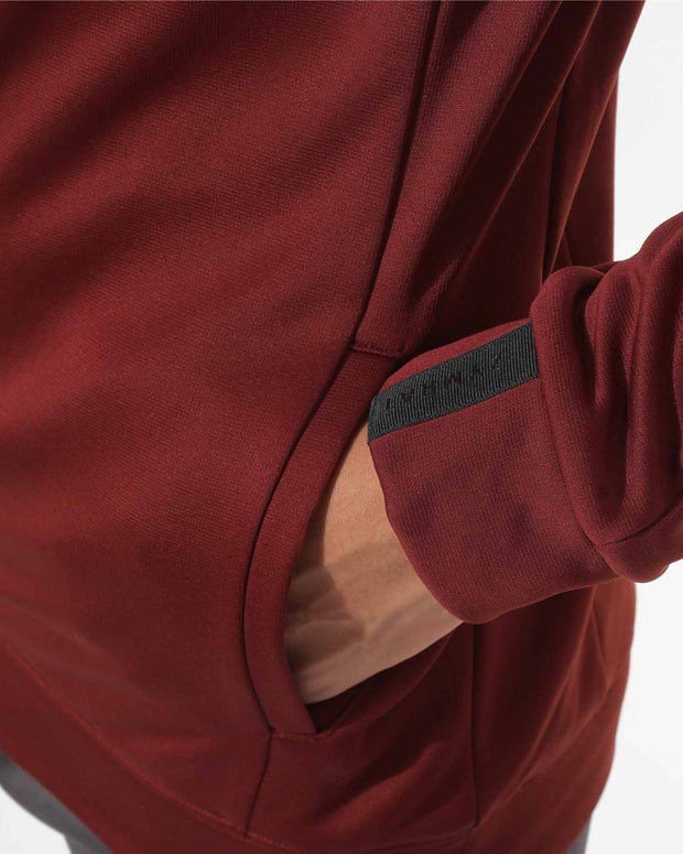 Zymrat maroon performance wear pulllovers