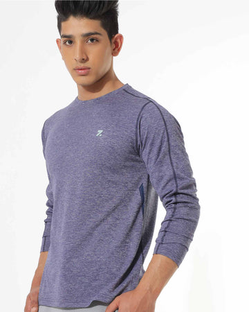 Zymrat dark grey performance wear full sleeve t-shirt