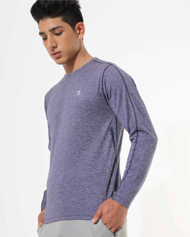 Zymrat blue breathable wear full sleeve t-shirt