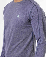 Zymrat  dark blue performance wear full sleeve t-shirt