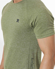 Zymrat green anti odor performance sleeve t shirt