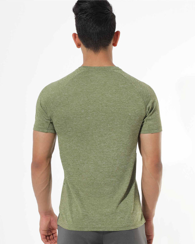 Zymrat green breathable short sleeve tee